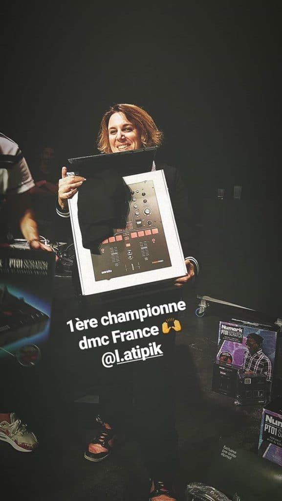 DMC France première femme championne